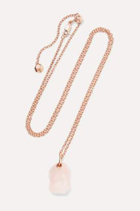 Monica Vinader Caroline Issa Rose Gold Vermeil Quartz Necklace