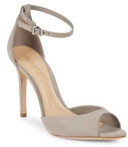 Schutz Sasha-Lee Suede Ankle-Strap Sandals