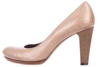 Alberto Fermani Leather Round-Toe Pumps