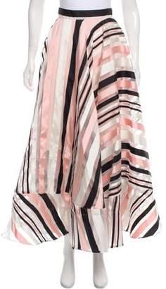 Christian Siriano Striped Maxi Skirt