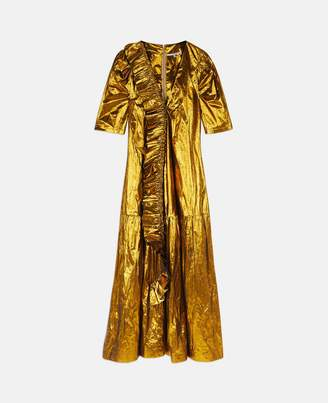 Stella McCartney gabrielle gold jacquard dress