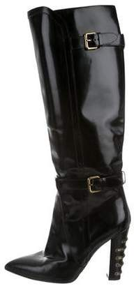 Derek Lam Patent Leather Pointed-Toe Boots