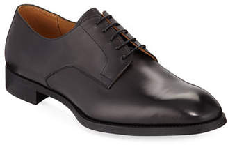 Giorgio Armani York Smooth Leather Rubber-Sole Derby Shoe