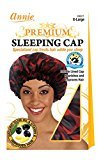 Annie Premium Deluxe Sleeping Cap, Red and Black, X-Large $6 thestylecure.com