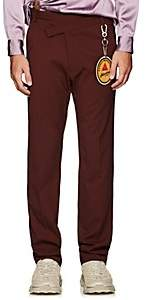 Martine Rose Men's Wrap-Effect Trousers - Wine
