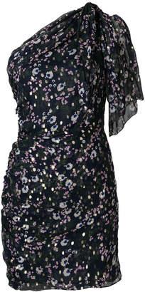 Isabel Marant one-shoulder printed dress