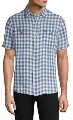 Polo Ralph Lauren Gingham Linen Button-Down Shirt