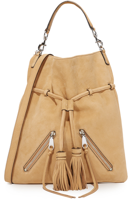 Rebecca Minkoff Large Moto Drawstring Bag $345 thestylecure.com