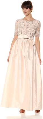 Adrianna Papell Women's Beaded Taffeta Dress