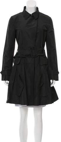 Belted Knee-Length Coat