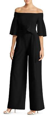 Ralph Lauren Off-the-Shoulder Wide-Leg Jumpsuit