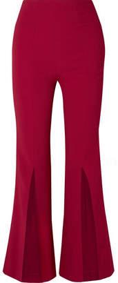 Roland Mouret Parkgate Crepe Flared Pants - Crimson