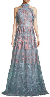 Neiman marcus evening dresses shopstyle neiman marcus marchesa ombr floral embroidered halter gown junglespirit Images