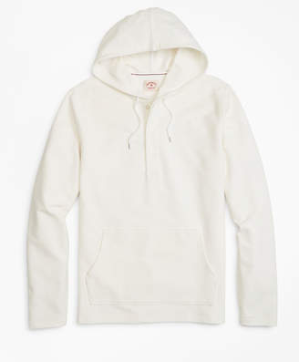 Brooks Brothers Solid French Terry Hooded Henley