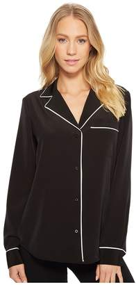 Calvin Klein Button Up Pajama Top Women's Clothing