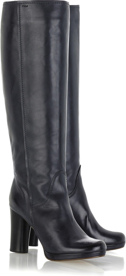 Chloé Leather platform boots