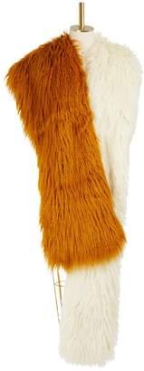 Dries Van Noten Faux fur scarf