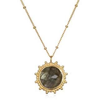 Satya Jewelry Womens Rose Quartz Gold Pendant Necklace 18-Inch
