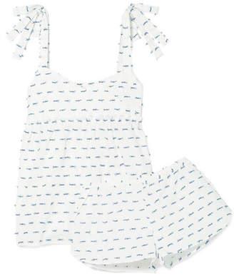 Three J NYC Jackie Fil Coupé Cotton-poplin Pajama Set - White