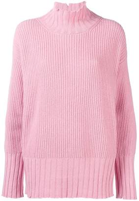 MSGM distressed oversized sweater