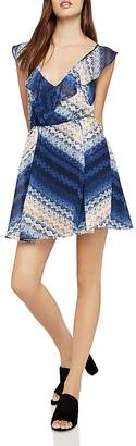 BCBGeneration Chevron Fit-and-Flare Dress