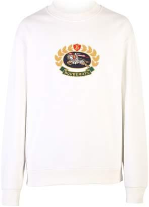 Burberry White Branded Sweatshirt
