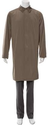 Armani Collezioni Woven Car Coat khaki Woven Car Coat