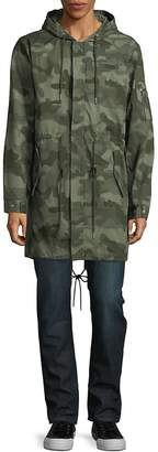Standard Issue NYC Men's Camo-Print Cotton Military Jacket