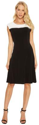 Calvin Klein Sleeveless Dress with Zipper Yoke Women's Dress