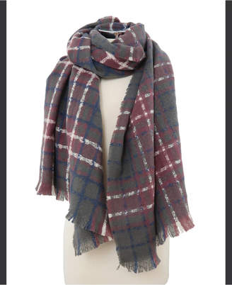 MARCUS ADLER Brushed Plaid Checkered Scarf
