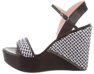 Stuart Weitzman Leather Woven Wedges w/ Tags