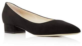 Giorgio Armani Women's Suede Pointed Toe Low Heel Pumps