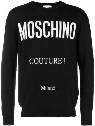 Moschino print jumper
