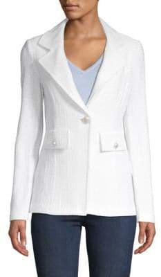 St. John Single-Button Blazer