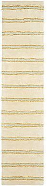 Martha Stewart RugsTM Chalk Stripe Runner – Buckwheat Flour