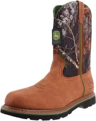 John Deere Men's 11 Inch Mossy Oak Camo Boot,Brown,8.5 M US
