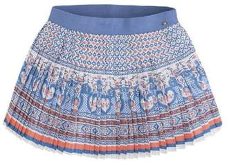 Mayoral Pleated Printed Skirt