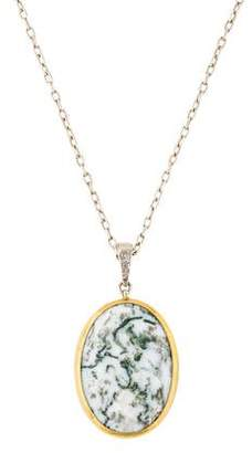 Gurhan Tree Agate Pendant Necklace