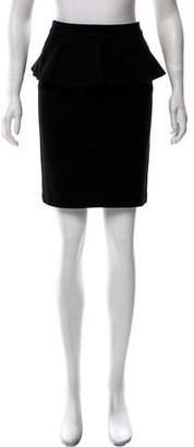 Alice + Olivia Peplum Knee-Length Skirt