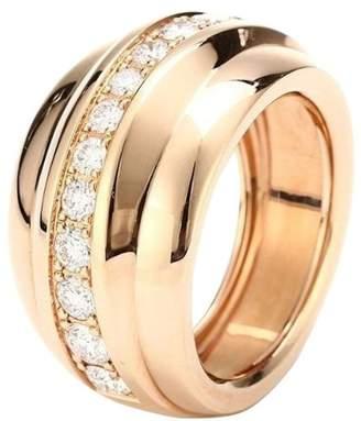Chopard 829399-5110 18K Rose Gold Diamonds Ring Size 6.75