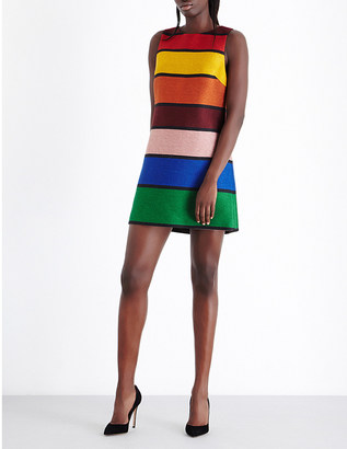ALICE & OLIVIA Clyde striped woven dress $325 thestylecure.com
