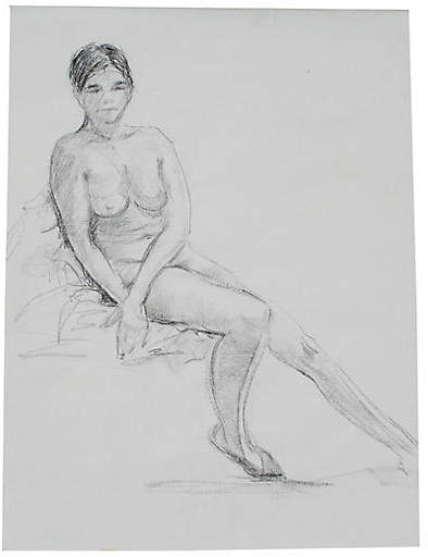 One Kings Lane Vintage Seated Female Nude