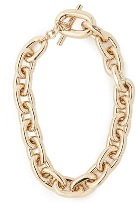 Paco Rabanne Chunky Chain Link Necklace - Womens - Gold