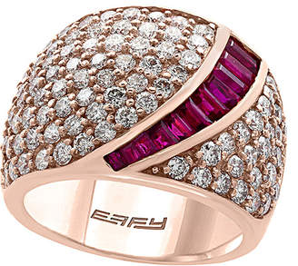 Effy Fine Jewelry 14K Rose Gold 3.95 Ct. Tw. Diamond & Ruby Ring