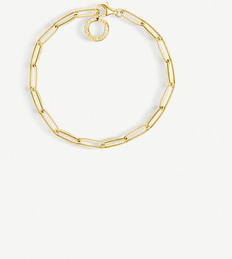 Thomas Sabo Paper Clip chain 18ct yellow gold charm bracelet