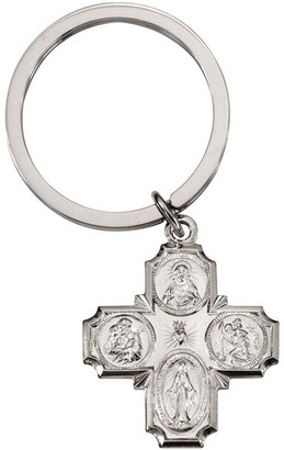 Sterling Silver Four Way Charm Key Ring