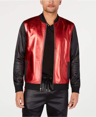 INC International Concepts I.n.c. Men Metallic Sparkle Bomber Jacket