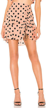 For Love & Lemons X REVOLVE Ruched Skirt