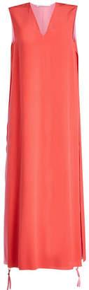 Agnona Silk Dress with Zipped Sides