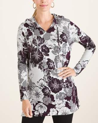 Of the Moment Zenergy Floral Hooded Tunic